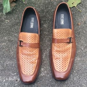 Stacy Adams brown slip on loafers